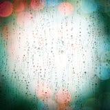 Luzes da chuva e da cidade Foto de Stock