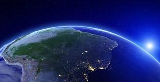 Luzes da cidade - Ámérica do Sul ilustração stock