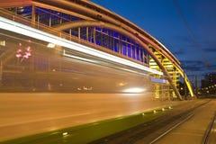 Luzes da cidade da noite foto de stock royalty free