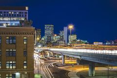 Luzes da cidade de Boston Foto de Stock Royalty Free