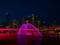 Luzes da cidade de Brisbane fotografia de stock royalty free
