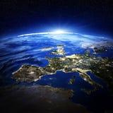 Luzes da cidade de Europa Foto de Stock Royalty Free