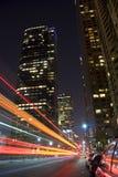 Luzes da cidade de Los Angeles foto de stock