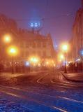 Luzes da cidade de Lwow Foto de Stock