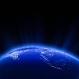 Luzes da cidade de 3Sudeste Asiático na noite Foto de Stock