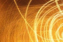 Luzes da cidade em um tiro longo da exposição Imagem de Stock