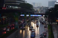 Luzes da cidade - Kuala Lumpur Fotografia de Stock Royalty Free
