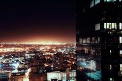 Luzes da cidade na noite Imagens de Stock Royalty Free