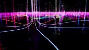 Luzes da cor do fulgor na ?gua vídeos de arquivo