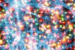 Luzes da cor do Natal Imagens de Stock
