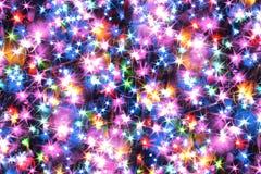 Luzes da cor do Natal Fotografia de Stock