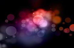 Luzes da cor do Natal Foto de Stock Royalty Free