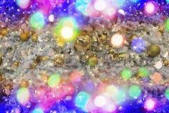 Luzes da cor do Natal como o fundo do feriado Foto de Stock