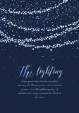 Luzes da corda do vetor Imagem de Stock Royalty Free