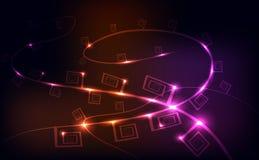Luzes da corda, fundo Fotografia de Stock