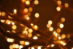 Luzes da decoração do Natal Imagens de Stock