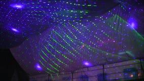 Luzes da discoteca video estoque