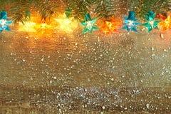 Luzes da estrela do Natal fotografia de stock