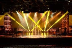 Luzes da fase antes do concerto Fotografia de Stock Royalty Free