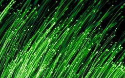 Luzes da fibra óptica Fotografia de Stock Royalty Free