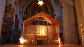 Luzes da igreja do Natal Imagem de Stock