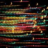 Luzes da iluminação do feriado Fotos de Stock Royalty Free
