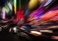 Luzes da iluminação e da noite na cidade grande Foto de Stock Royalty Free