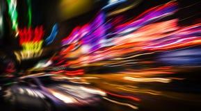 Luzes da iluminação e da noite na cidade grande Imagens de Stock Royalty Free