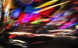 Luzes da iluminação e da noite de New York City fotos de stock