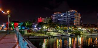 Luzes da independência e de Natal em Bridgetown, Barbados imagens de stock royalty free