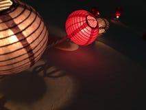 Luzes da lanterna de Japense fotos de stock