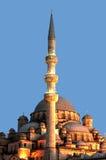 Luzes da mesquita da sultão de Valide sobre Imagem de Stock Royalty Free