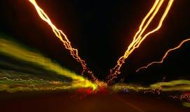 Luzes da noite Imagem de Stock
