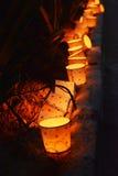 Luzes da noite Foto de Stock