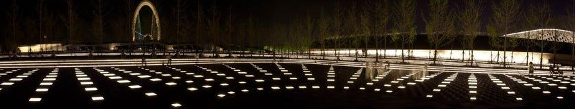 Luzes da noite da vila olímpica da juventude Imagem de Stock Royalty Free