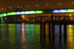 Luzes da noite de Long Beach Fotografia de Stock