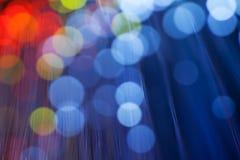 Luzes da noite do borrão do fundo Fotos de Stock