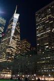 Luzes da noite em Bryant Park Fotos de Stock Royalty Free