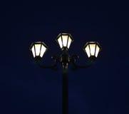 Luzes da noite que brilham Imagem de Stock