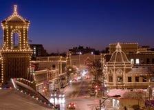 Luzes da plaza de Kansas City Imagens de Stock Royalty Free