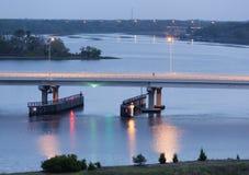 Luzes da ponte Fotos de Stock Royalty Free