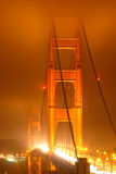 Luzes da porta dourada Fotografia de Stock Royalty Free