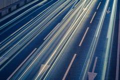 Luzes da raia do carro imagem de stock royalty free