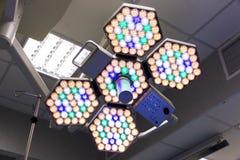 Luzes da sala de operações Fotografia de Stock
