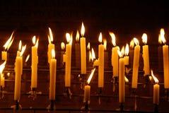 Luzes da vela Imagens de Stock Royalty Free