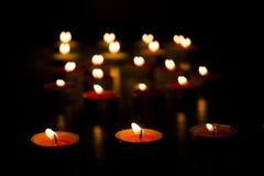 Luzes da vela Fotografia de Stock Royalty Free