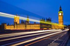 Luzes da velocidade de Londres ben grande Imagem de Stock Royalty Free