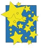 Luzes das estrelas na noite Foto de Stock