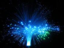 Luzes das fibras ópticas Imagens de Stock