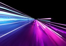 Luzes de arrasto rápidas super Fotos de Stock